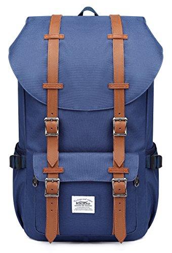 KAUKKO Laptop Outdoor Backpack, Travel Hiking& Camping Rucksack Pack, Casual Large College School Daypack, Shoulder Book Bags Back Fits 15' Laptop & Tablets (Nblue)