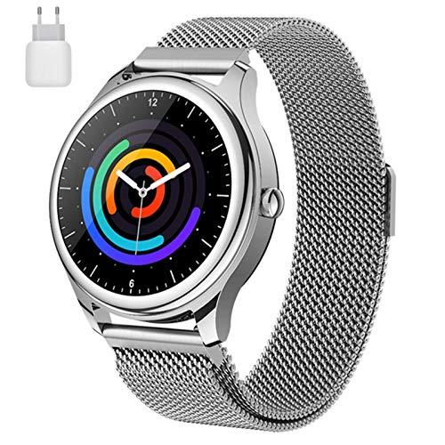 LVF S23 Smart Watch Men's Bluetooth Llamada Bluetooth IP67 A Prueba De Agua Tarifa Cardíaca Deportes Smartwatch para Android iOS Fitness Band,A