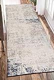 Alfombra de Corredor-Tapón de Suciedad-Antideslizante-Lavable a máquina-para Pasillo, Cocina, entrada-beige-60 * 180cm