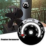 Further Thermomètre Magnétique pour Poêle Thermomètre De Poêle À Bois Thermomètre De Mesure De Poêle Thermomètre avec Grand Écran pour Poêle À Bois/Poêles À Gaz/Poêle À Pellets/Tuyau De Poêle
