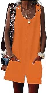 Mogogo Women's Spaghetti Straps Casual Shorts Sleeveless Loose Bid Pants