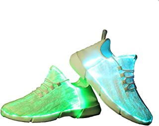 Idea Frames Fiber Optic LED Light Up Shoes for Women Men USB Charging Fashion Sneaker