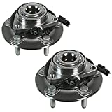 Detroit Axle - 2 pcs Front Wheel Bearing and Hub Assembly Set Replacement For 2012 2013 20...