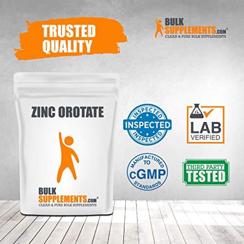 BulkSupplements.com Zinc Orotate Powder - Pure Zinc 15 - Zinc Immune Support - Zinc Mineral Supplements Zinc 15 mg Vegan Zinc Supplements (500 Grams)