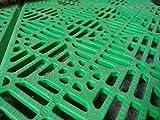 ANTIHUMEDADES Suelo Polipropileno en Losetas de Plástico 30x30cm (Verde)