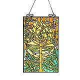 Chloe Lighting Tiffany-Style 'Tree of Life' Stained Glass Window Panel