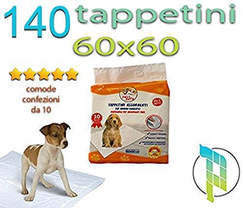 Palucart® tappetini igienici per Cane 60x60 traversine per Cani - 140 - Pezzi Animali Domestici con Adesivo Anche per Gatti Anti Odore …