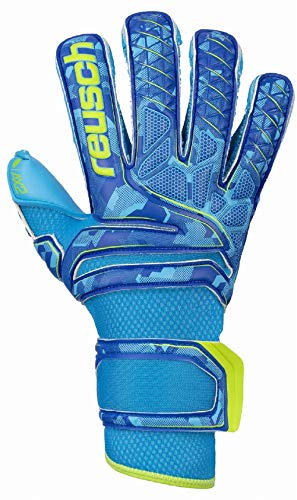 Reusch Herren Attrakt Ax2 Evolution Torwarthandschuh, Aqua Blue/Bright Green/Aqua Blue, 10