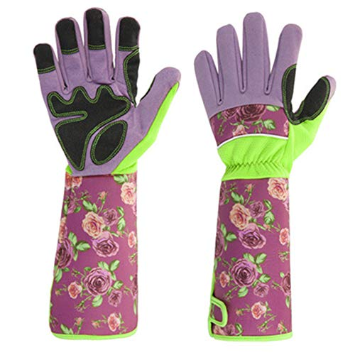 NGwenyicanI Long Sleeve Gardening Gloves Pruning Thornproof Garden Gloves with Extra Long Forearm Protection for Gardener Puncture Resistant