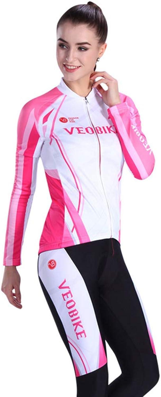 Cycling Suits for Women,Long Sleeve Cycling Jersey Women,Cycling Pants,3D Gel Pad,Mesh Suit,Shorts,Antibacterial Sponge
