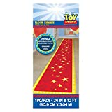 Amscan 242847 Toy Story 4 Birthday Red and Yellow Fabric Party Floor Runner, 2' x 10', 1 piece