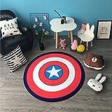 Lily&her friends Alfombrilla de Suelo Redonda para niños, colchón de Escalada, cojín Decorativo, Capitán America, Diameter: 100cm