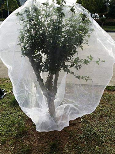 "LAVZAN 47""x55""/1pcs Nylon Netting Protect Bags with Drawstring for Fruits Vegetables Protect Your Fruit from Birds Insects Squirrels"