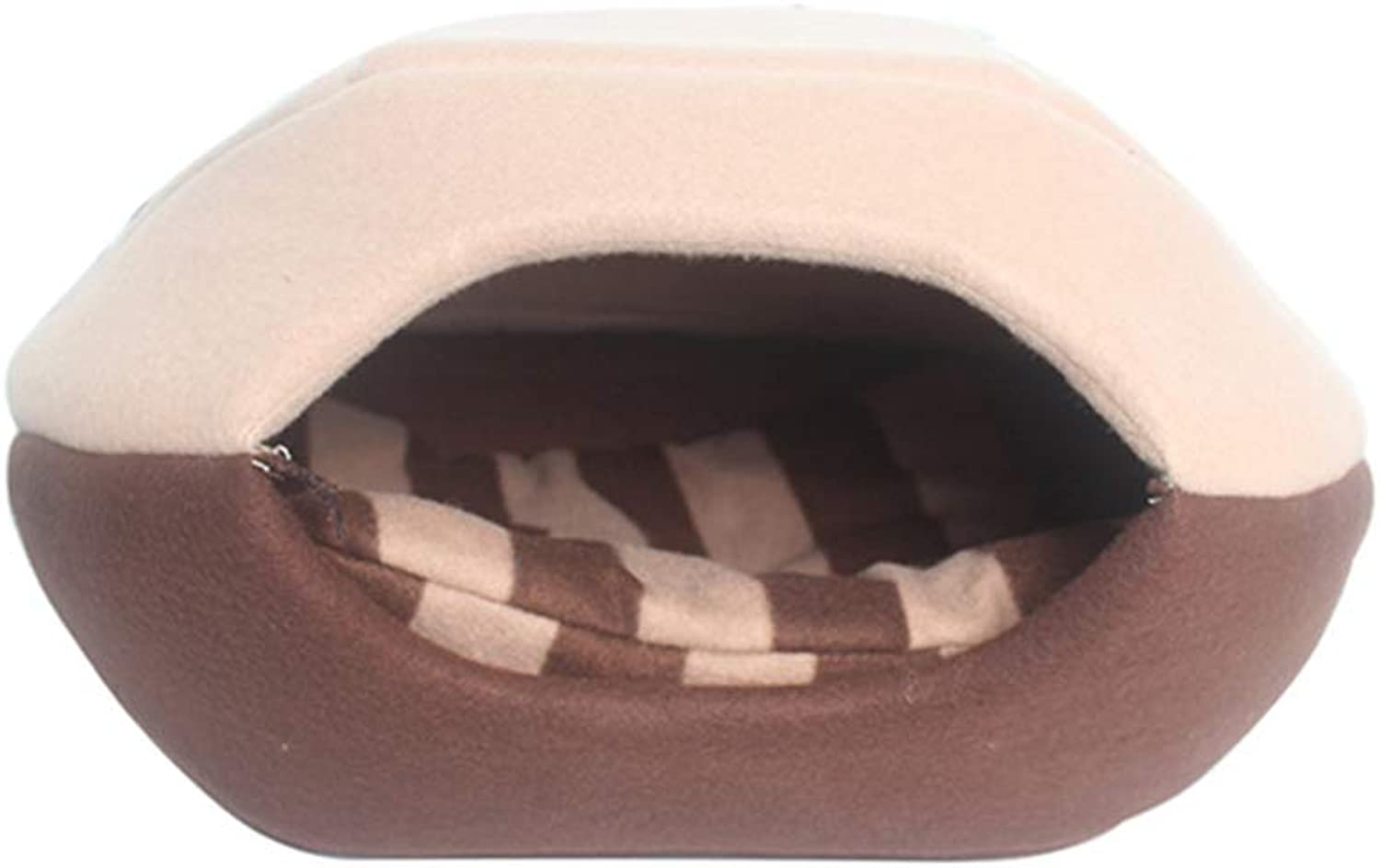Luxury Pet Home,Sleep Zone Cuddle Cave Pet Bed for Cat Dogs House(L(51X43X37CM),B)