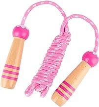 NUOBESTY Houten Handvat Springen Touwen Verstelbare Springtouw Fitness Skipping Touwen Voor Oefening Outdoor Activiteit (R...