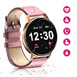 Smartwatch Bluetooth da donna, IP68 impermeabile con schermo Full Touch da 1,3 pollici,...