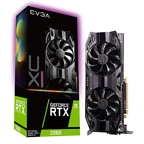 EVGA 06G-P4-2167-KR GeForce RTX 2060 XC Ultra Gaming, 6GB GDDR6, Dual HDB Fans Graphics Card