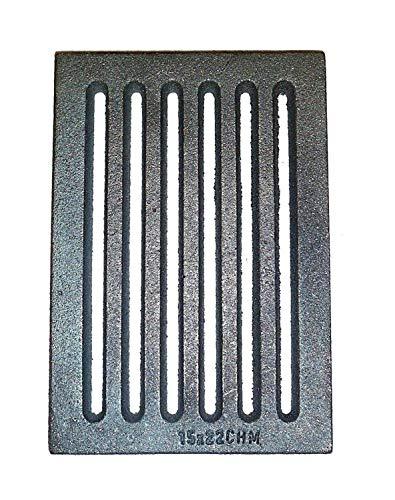 Powermat Gussrost 15 x 22 cm Kamin Ascherost Tafelrost Kaminrost Ofenrost 22 x 15 cm