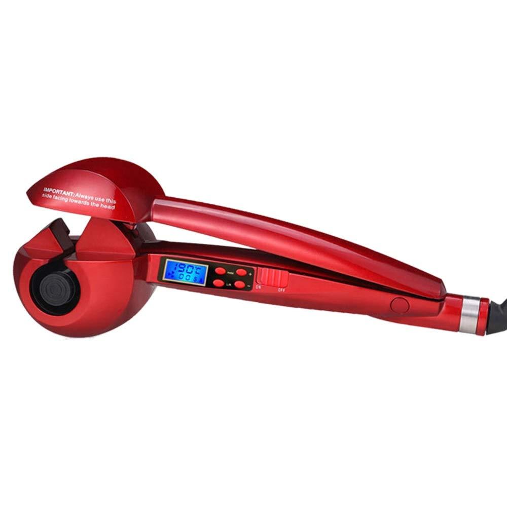 一般スタッフフォーラムLCD表示の温度調整の自動陶磁器のヘア?カーラー、自動ヘア?カーラー モデリングツール (色 : レッド)