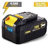 TECCPO Batería 18V Recargable de Ion de Litio, 4.0 Ah Batería de Repuesto,...