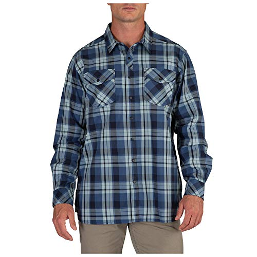 5.11 Tactical Peak 72469 Chemise à manches longues en coton pour homme, Homme, 72469, Ensign Plaid Bleu, X-Small