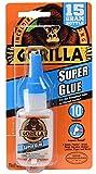 ゴリラ(Gorilla) スーパーグルー 強力瞬間接着剤 (液状, 15g) [並行輸入品]