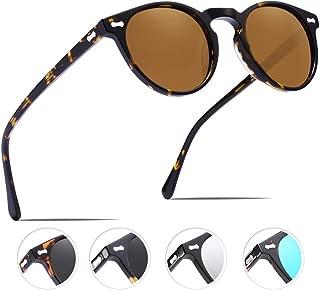 Vintage Polarized Sunglasses for Men UV400 Protection Acetate Frame