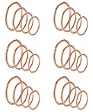 Masedy 24Pcs 20G 316L Stainless Steel Nose Rings Hoop Tragus Cartilage Helix Piercing Lip Septum Ring Rose-Gold Bendable
