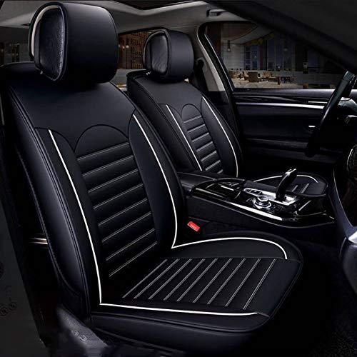 MMI-LX Transpirable PU Asientos de Piel de Coches Fundas de Asiento de Auto Protectores del Amortiguador del Sistema Completo (colchón de Aire) Compatible Universal for Todos los Modelos de Jaguar Xf