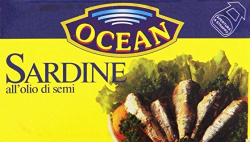 Ocean - Sardine, All'Olio Di Semi - 10 pezzi da 120 g [1200 g]