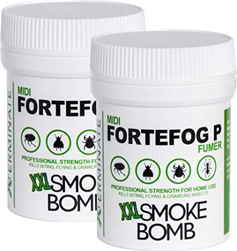 Xterminate XXL 16g Smoke Bomb Fogger Killer For Fleas, Bed bug, Carpet Moths, Cluster Fly, Silverfish, Carpet Beetle Insects (HSE Approved And Tested) (2)
