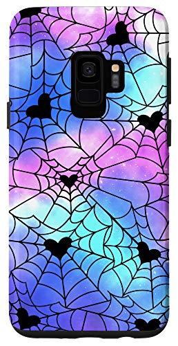 Galaxy S9 Heart Spiderweb Pattern Halloween Witchy Pastel Goth Case