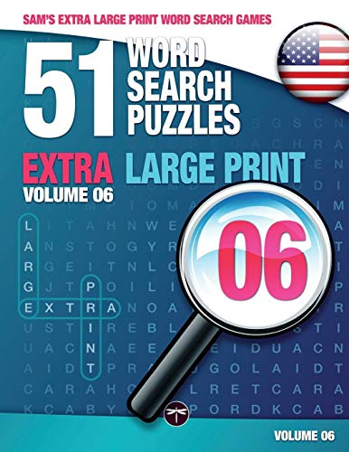 Sam's Extra Large Print Word Search Games, 51 Word Search Puzzles, Volume 6: Brain-Stimulating Puzzle Activities for Many Hours of Entertainment