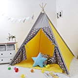 Polka Tots Kids Teepee Tent with Non Slip Padded Mat Kids, Play Tent, Playard, Playhouse Big Portable Kids Tent Children Tent House