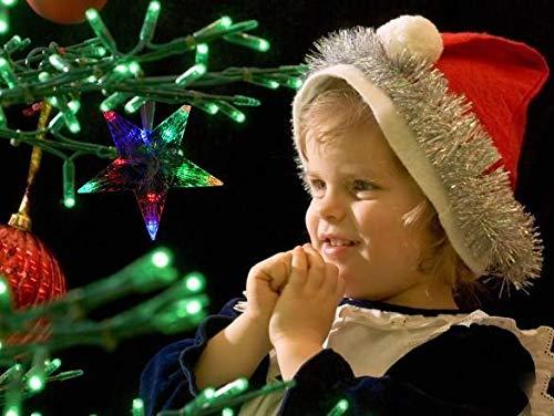 Anstsy LED Indoor Outdoor Christmas Tree Topper Star Lights Lamp Xmas Decoration 100-240V/EU Speziallampen