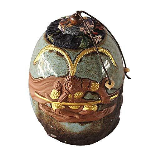 Urna funeraria de madera mediana para conmemorar las cenizas de mascotas y pequeñas cantidades de cenizas de restos humanos cremados con patrón de flores y pájaros, ataúdes y urnas de color naranja