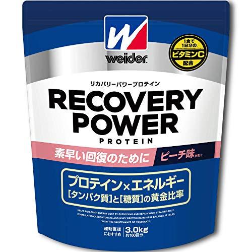 森永製菓 ウイダー リカバリーパワープロテイン ピーチ味(3.0kg)