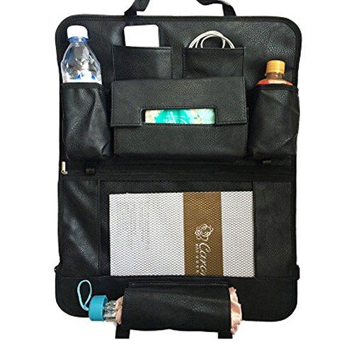 De haute qualité de voiture Organiseur pour dossier de siège Leatherware Sac de rangement, Noir A