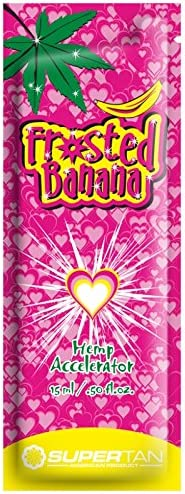 Supertan Frosted Banana hemp accelerator sunbed tanning lotion cream 200ml