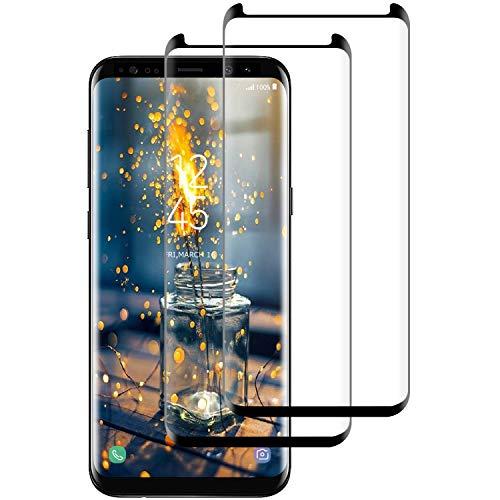 Aspiree Vetro Temperato Compatibile con Samsung Galaxy S8 [Anti-Graffo Olio Impronta], Pellicola Protettiva Protezione con 9H Durezza Protezione Elevata per S8-2 Pack