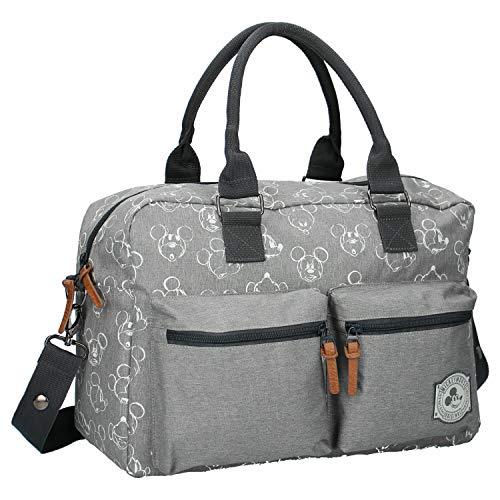 Disney Fashion Wickeltasche mit Mickey Mouse - 16 L - Mit Wickelauflage - Grau