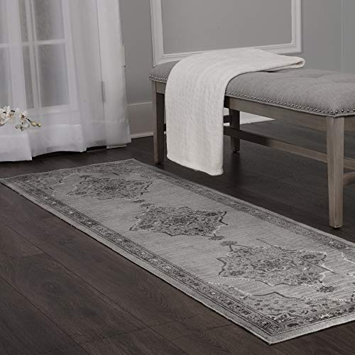 Home Dynamix Shabby Chic Pastel Alma Runner Area Rug, Cotton Blend  2'2