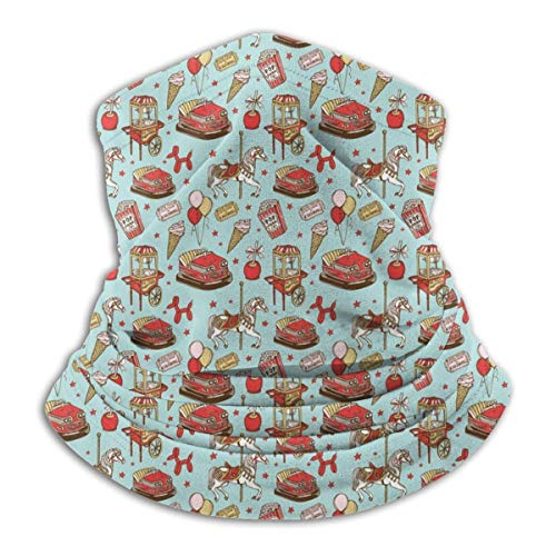 KDU Fashion 12-in-1 hoofdband, carrousel paard pop corn ballon hond snoep Magic sjaal, polyester Face Guards voor klimmen kamperen wandelen