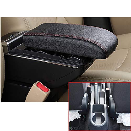 Für Rapid High-end Auto Armlehne Mittelarmlehne mittelkonsole Zubehör Ladefunktion Mit 7 USB-Ports Eingebaute LED-Licht Schwarz