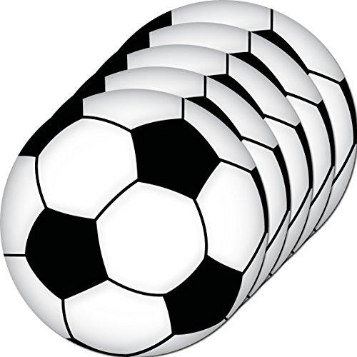 GreenIT 5 Stück 10cm Aufkleber Sticker Ball Bälle Fußball Fußbälle Fan Fußballaufkleber Fußballsticker