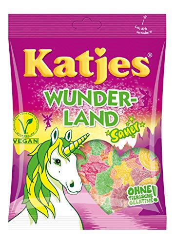 Katjes Wunderland Saure Fruchtgummi Süßigkeiten, in magischen Formen und Farben, 200 g (20er Pack)