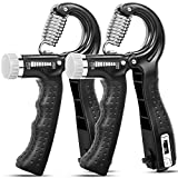 KDG Hand Grip Strengthener 2 Pack Adjustable Resistance 10-130 lbs Forearm Exerciser,Grip Strength Trainer for Muscle Building and Injury Recovery for Athletes