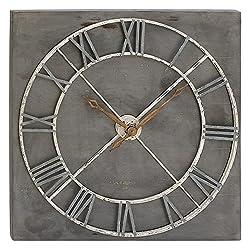 Deco 79 47927 Wooden Wall Clock, Darkgray/Brown/Whiteandgray
