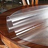 CL-ZZZ Mesa Redonda Pad Protector Redondo Mantel congelado Plegable Tabla Impermeable Mesa de Mesa mármol/Mesa de Vidrio/Protector de Muebles de Madera Claro Circular 2mm de Grosor - Personalizable