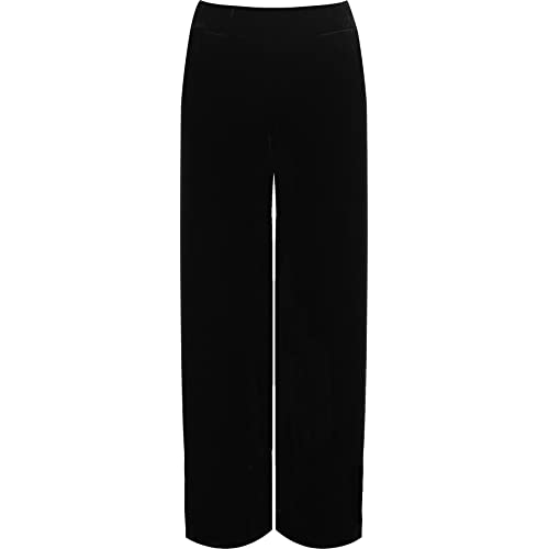 WearAll Women s Plus Velour Velvet Wide Flared Leg Pocket Pants Ladies  Palazzo Trousers 12-26 5c90536a0